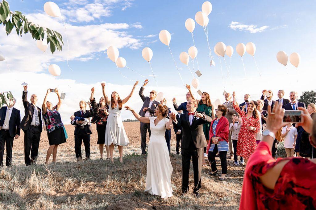 Ländische und romantische Hochzeit