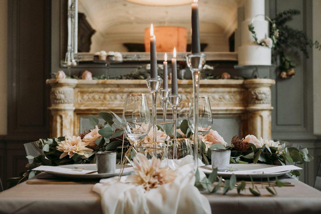 modern wedding grey, rosa, gold Hamburg