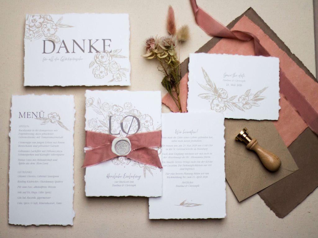 Tatengold Hochzeitspapeterie